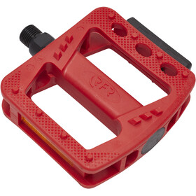 Cube RFR Flat HQP CMPT Pedals red